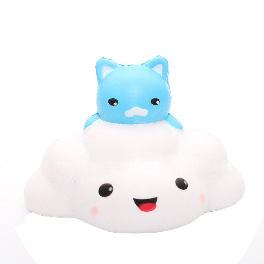 1PCS Cute Soft Cat clouds Squishy Slow Rising Phone Strap Kid Fun Toys Squeeze Soft Bread Cake