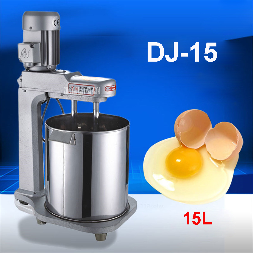 все цены на DJ-15 220V/50 Hz Commercial Food Mixer blenders Flour mixing Egg beater 15L Multifuntion dough mixer machine Whipped 3kg/time