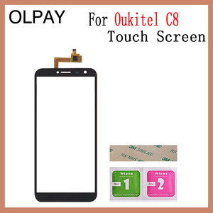 Image 5 - 5.5 Touch Glass Panel For Oukitel C8 C8 4G Touch Screen Digitizer Glass Sensor Tools Free Adhesive+Clear Wipes