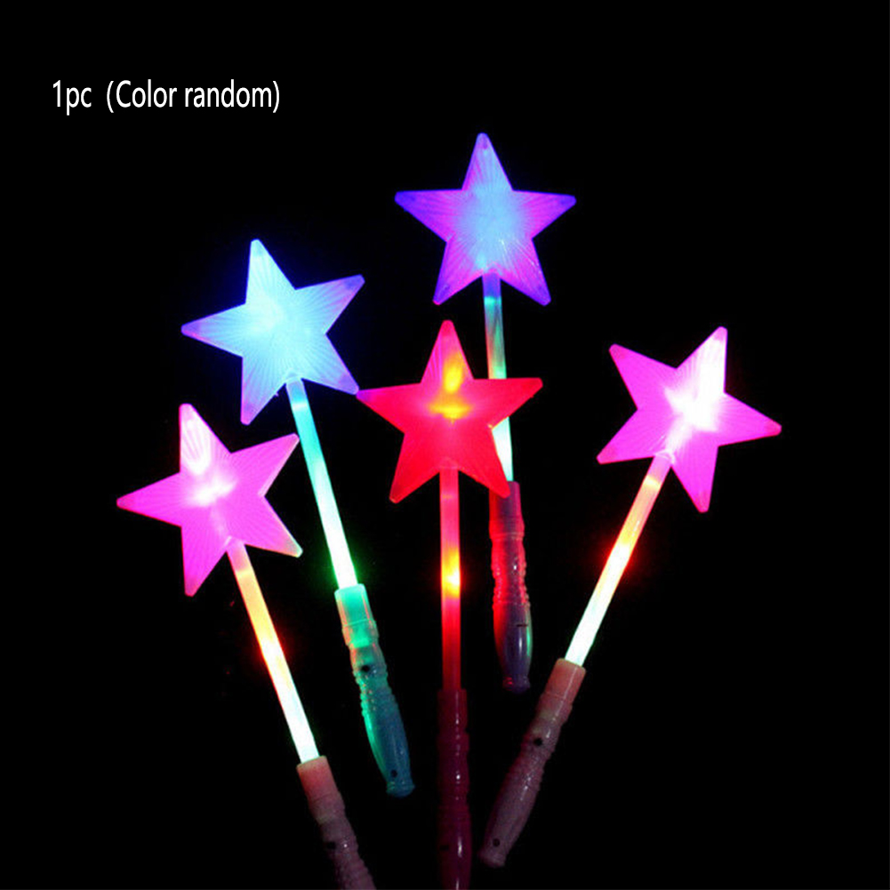 Magic Party Star Fluorescent Bar Fairy Wands LED Flashing Plastic Glow Sticks Concert Luminous Toy