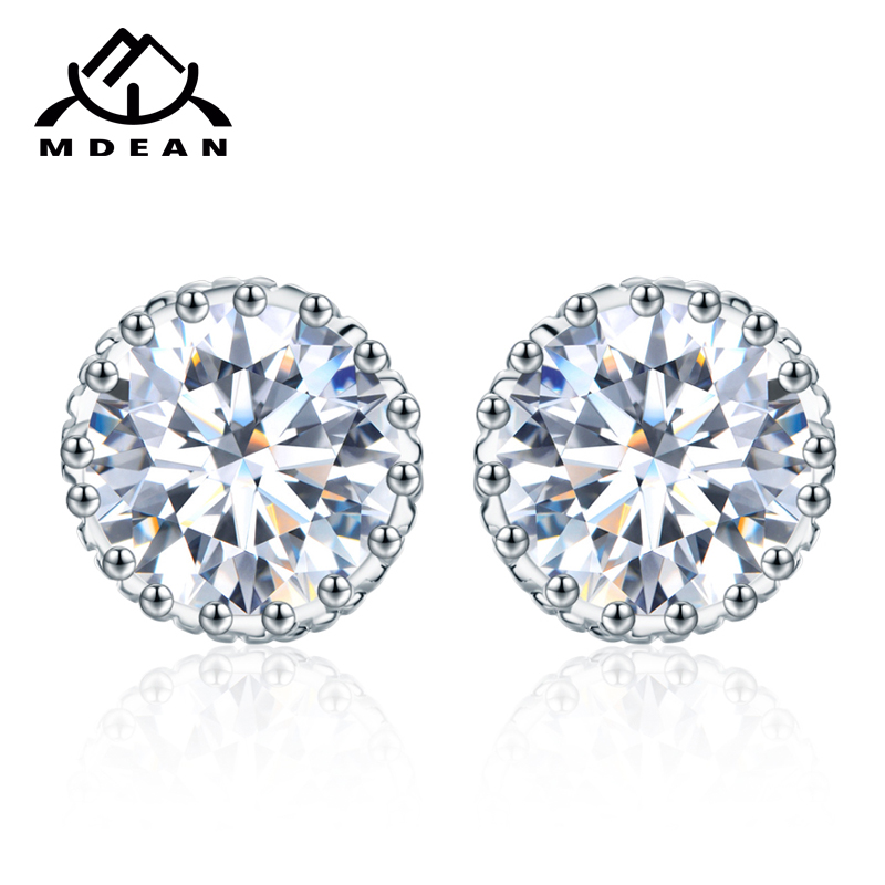 MDEAN Crown Stud Earrings...