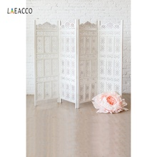 Laeacco Gray Screen Backdrops Brick Wall Flowers Party Flooring Love Baby Portrait Photography Backgrounds For Photo Studio