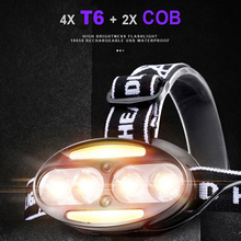 Headlamp LED Flashlight 2*COB