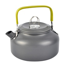 Portable Outdoor Hiking Kettle Teapot Compact Lightweight With Silicon Handle Camping Camp Tea Coffee Pot Aluminum