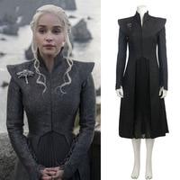 Free Shipping Daenerys Targaryen Custom Made Cosplay Halloween Dress Cosplay Game Of Thrones Season 7 Costume