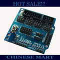 Comercio al por mayor 20 unids/lote Sensor Shield V5 Para APC220 Bluetooth Módulo Analógico Servo Motor Envío Libre # J320