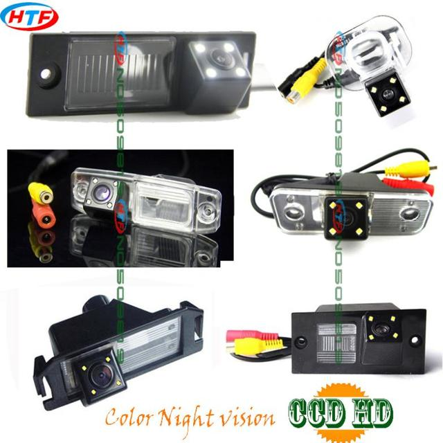 Cable inalámbrico LEDS Cámara Posterior del coche del CCD para Hyundai Santa Fe H1 Elantra I30 IX35 Verna VELOSTER Azera Tuson Génesis COUPE