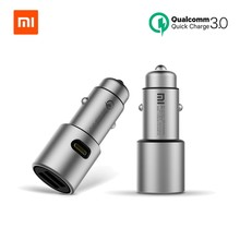 Originele Xiao mi autolader Mi quick charge 18W qc 3.0 DUAL usb Max 36W 5 V/ 3A 9V 2A Metalen Voor iPhone Samsung Huawei oppo vivo(China)