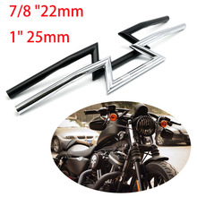 Chopper for 7/8 22mm 1 25mm Handle Z Drag Bar Front Handlebar for Harley Sportster Cruiser XL 883 1200 Motorcycle Prince 1 350 assembly model germany prince eugen heavy cruiser with trumpeter 05313