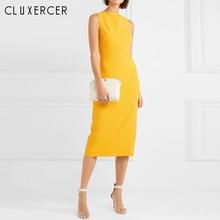 2019 New Arrival Summer Sleeveless Elegant Office Lady Dress Sheath Fitted Bodyc
