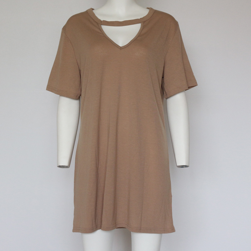 LASPERAL 2018 Sexy V Neck Cotton Summer Dresses Female Solid Casual Loose Dress Women A-Line Mini Vestidos Plus Size 3XL 4