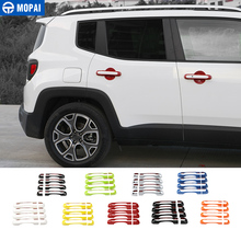 New Products Front & Rear 4 PCS ABS Chrome Door Handle Covers For Jeep Renegade 2015-2016