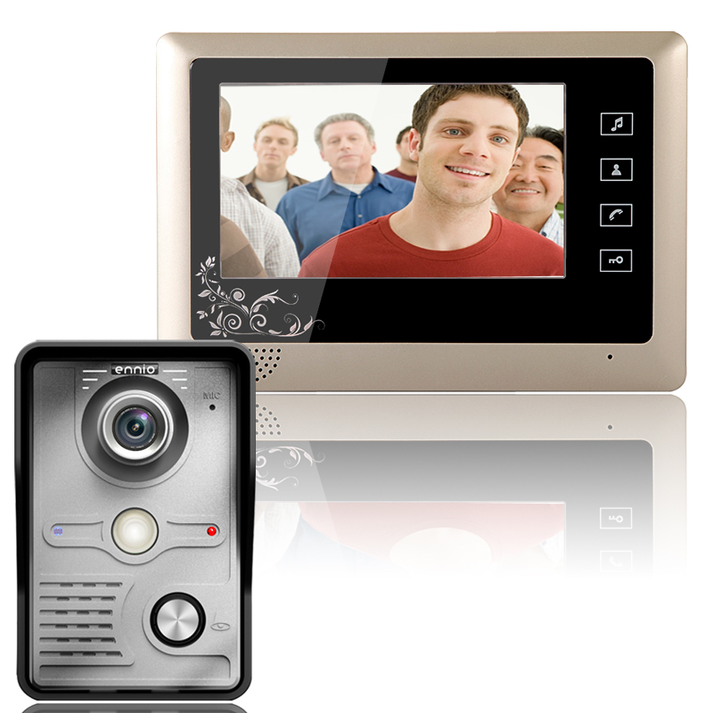 Free Shipping!   7 Inch Video Door Phone Doorbell Intercom System  Kit 1-Camera 1-Monitor Night Vision