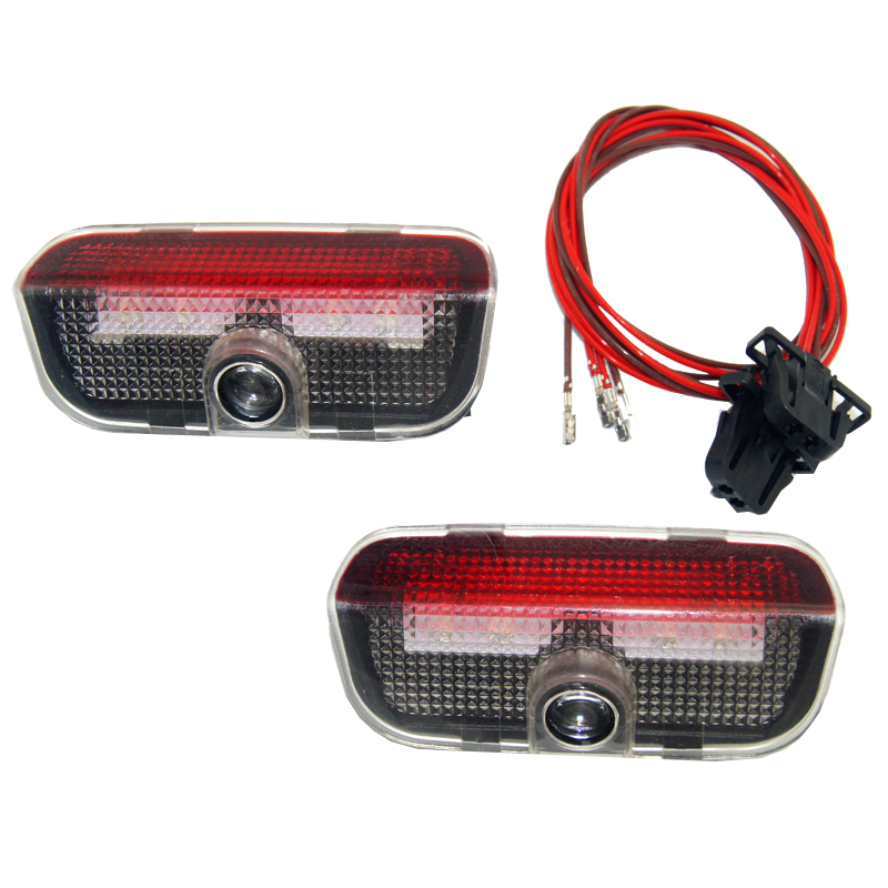 For Golf 5 6 7 Jett a MK5 MK6 CC Tiguan Passat B6 B7 Scirocco New Touare g R line GT I Passat Car LED Door Warning Welcome Light in Car Light Assembly from Automobiles Motorcycles