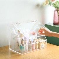 Acrylic transparent storage box, cosmetic storage box, desktop cosmetic make up box 30*19*24cm