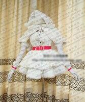 Macross Frontier Sheryl Nome Cosplay Costume De Noël Uniforme D'hiver Chaud De Laine Manteau Cape + Robe + Chapeau + Ceinture + gants Sur Mesure