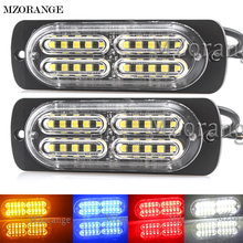 MZORANGE 1Pcs Ultra-thin High Power Waterproof 12V-24V 20 LED Car Truck Motorcycle Emergency Side Strobe Warning Flashing Light