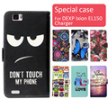 Fashion cartoon printed flip wallet leather case for DEXP Ixion EL150 Charger with Card Slot phone bag book case,free gift