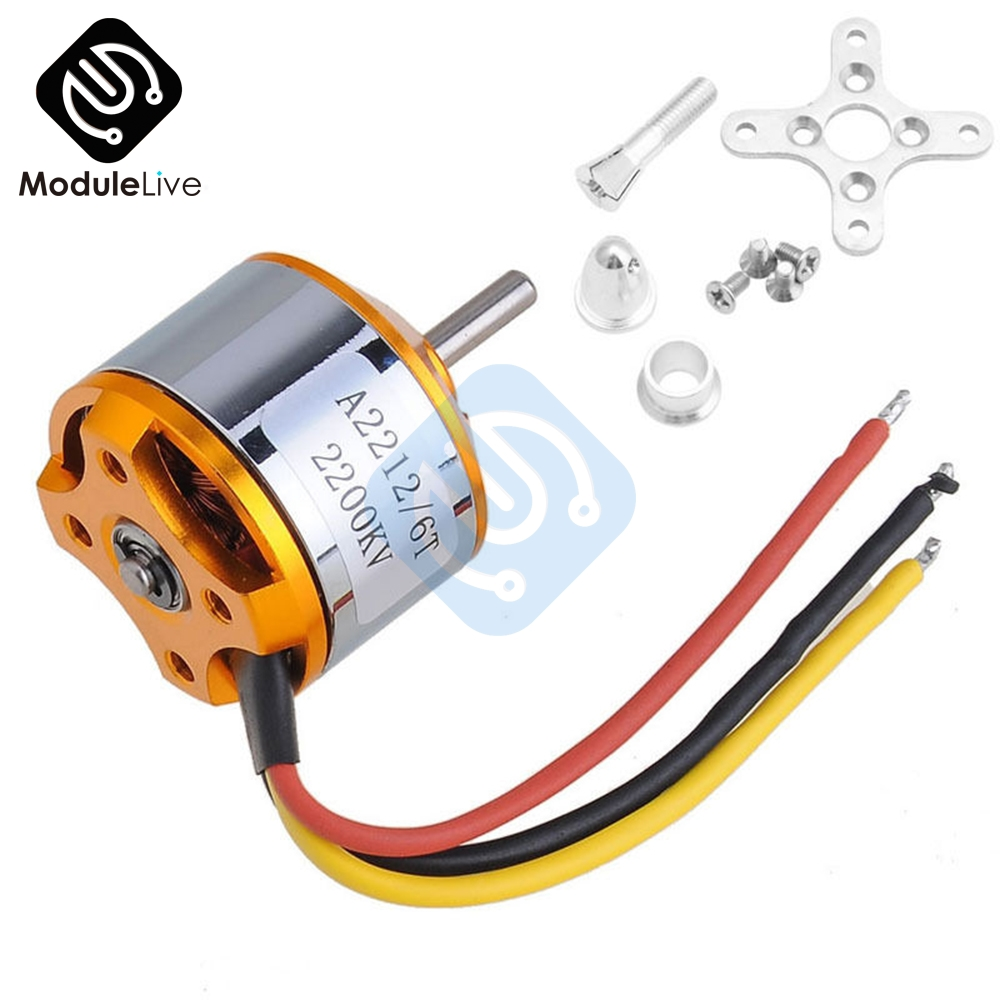 A2212 2200KV 6T Brushless Outrunner Motor DC Motor For RC Aircraft Plane Quadcopter Helicopter Multi-copter 2200 KV
