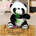 Free shipping 15cm cute panda eat bamboo leaves plush animal stuffed toy gift for friend kids children boys birthday party gifts