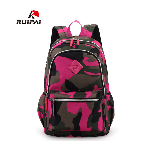RUIPAI Backpack School Kids Baby's Bags Polyester Camouflage ...