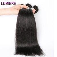 Lumiere Hair Peruvian Straight Hair Bundles 8 28inch Human Hair Weave Natural Color Non Remy Hair
