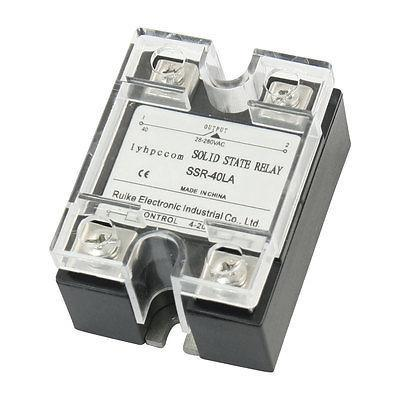 4-20mA Input AC 28-280V 40A Output 1 Phase Clear Cover Solid State Relay normally open single phase solid state relay ssr mgr 1 d48120 120a control dc ac 24 480v