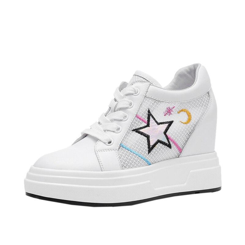 Printemps Cuir Femme Pour Femmes Loisir Baskets Air Lacets De Véritable À 2019 Mesh Chaussures Noir blanc Dilalula En 8wON0PkXn