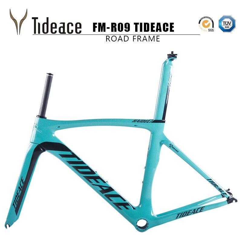 Цена за Tideace велосипед дороги углерода рама bicicleta кадр гоночный велосипед фреймов аэро карбоне велосипедов кадров углерода дорожного велосипеда рама 2017