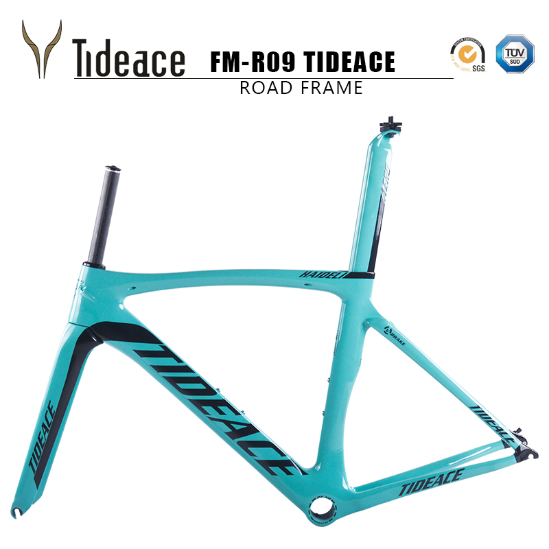 Tideace bike carbon road frame bicicleta frame racing bike frameset aero carbone bicycle frames carbon road bike frame 2018 2017 flat mount disc carbon road frames carbon frameset bb86 bsa frame thru axle front and rear dual purpose carbon frame
