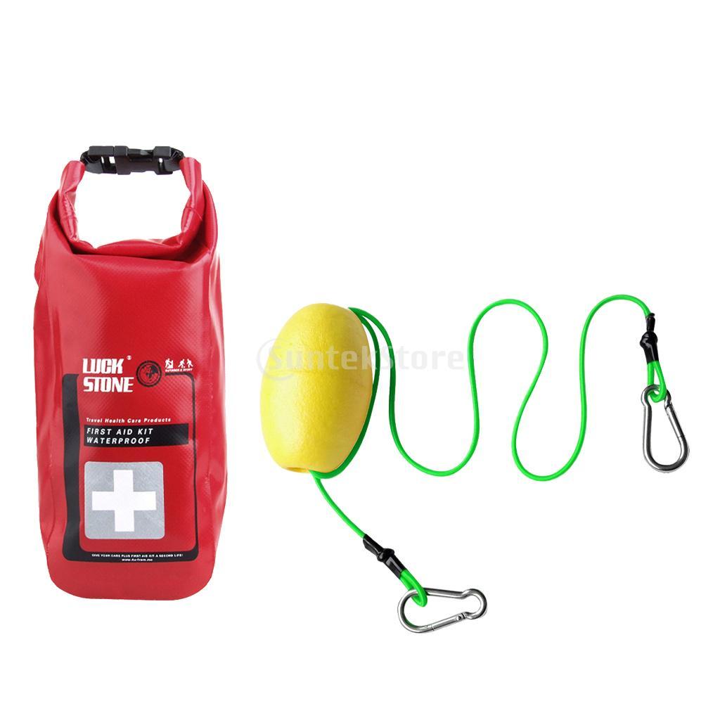 2L Empty Waterproof First Aid Kit Dry Bag Kayak Canoe Tow Throw Line Leash