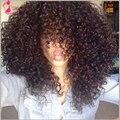 Рэп и хип-хоп странный вьющиеся волосы, Индийский девы волос 3 пачки много сырья индийские вьющиеся волосы естественного индийские человеческих волос