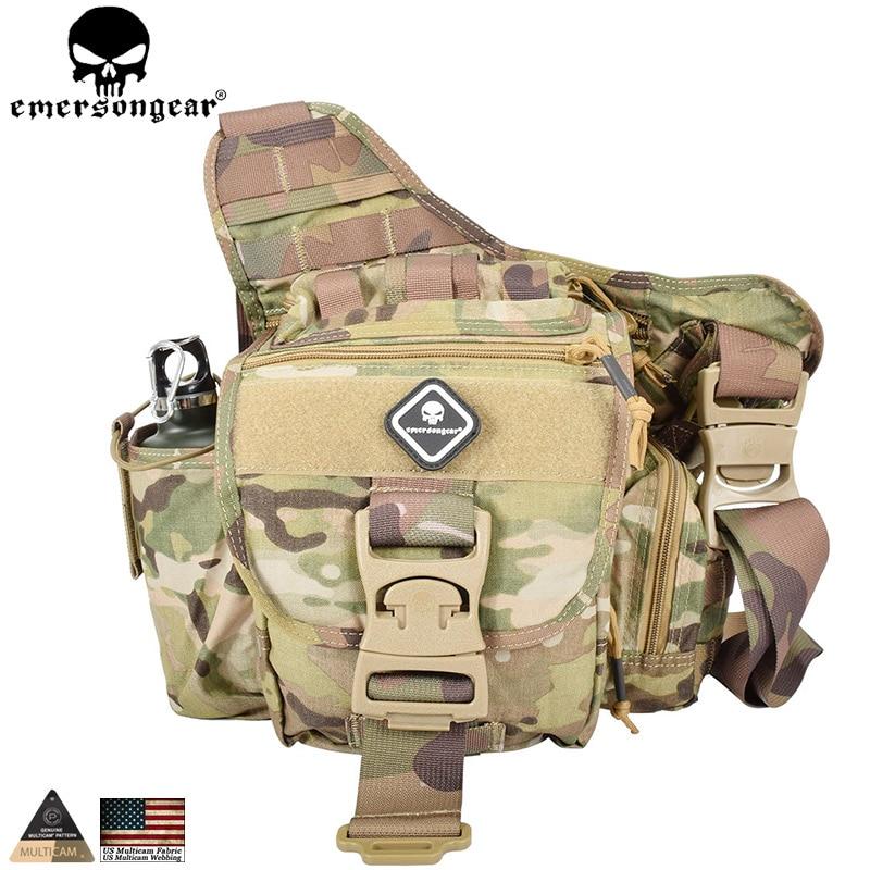 EMERSONGEAR Jumbo Versipack Tactical Sling Pack  Recon Military Tactical Gear Bag  Multicam Black Khaki EM8345 string sling pack