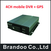 4CH Vehicle GPS AHD Mobile DVR Realtime SD Card Video/Audio Recorder