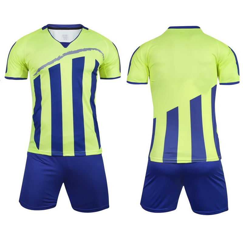 bd27f6cd4 Men Striped Survetement Football Jerseys Team Sports Kit Soccer Jersey Sets  Uniforms Shirts Shorts Kit Maillot De Foot DIY 2018-in Soccer Sets from  Sports ...