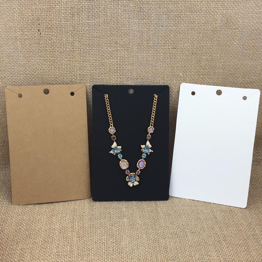 50Pcs/Lot Kraft Fashion Jewelry Display Card For Big Necklace/Pendant Packaging Paper Card 15x10cm