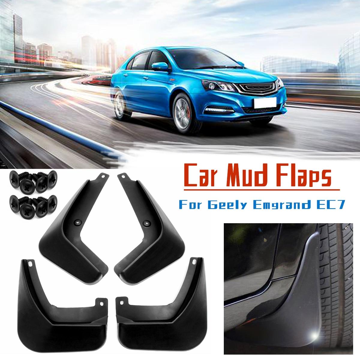 4pcs Car Front Rear Mud Flaps Mudguards Fender Flares Mud Splash Guards Mudflap For Geely Emgrand 2017 2018
