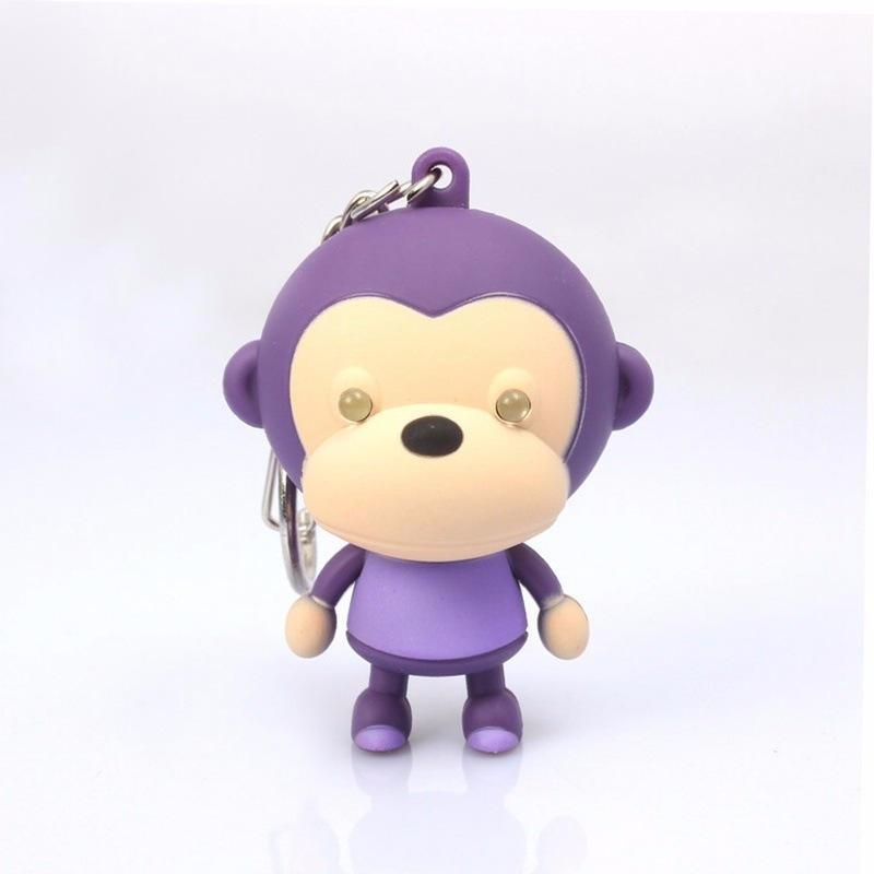 kids gift sound light keychains font b flashlight b font sound monkey ring cartoon toys animation