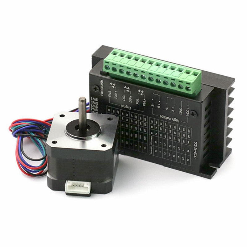 Nema17 Stepper Motor 42BYG34 1.5A Drive TB6600 motor for DIY CNC milling machine 3D printer toothed belt drive motorized stepper motor precision guide rail manufacturer guideway
