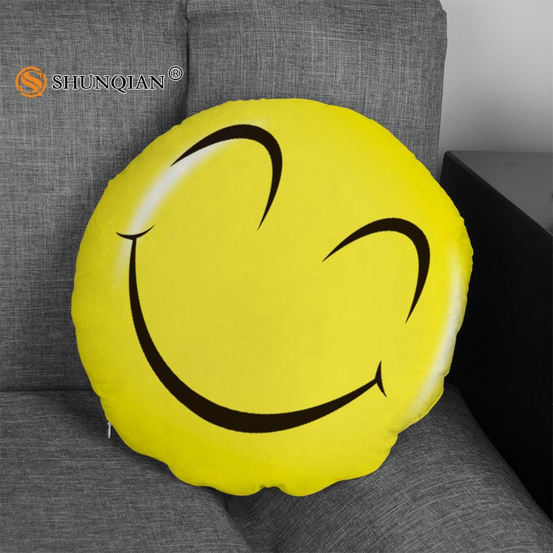 SHUNQIAN 2017 New Cute Emoji Pillows QQ Smiley Emotion Round PillowCase  Size 40X40cm(Twin Sides) Custom Zipper Pillow Cover-in Pillow Case from  Home &