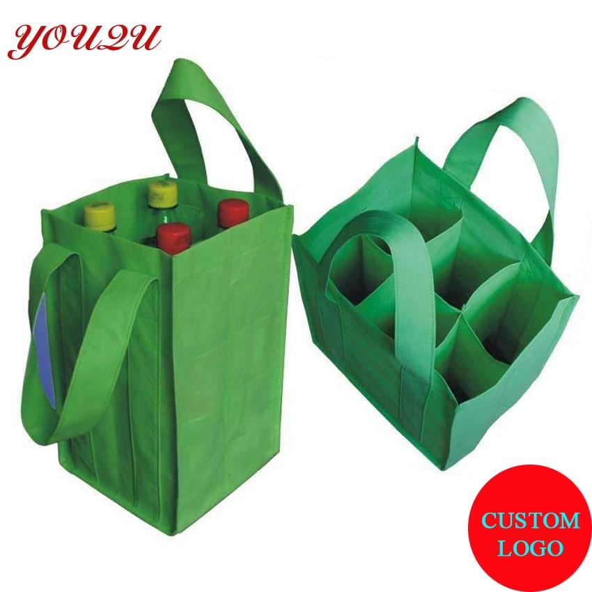 Custom bottle holder bottle bag wine bag wine gifts bag 6 bottle package with own logo