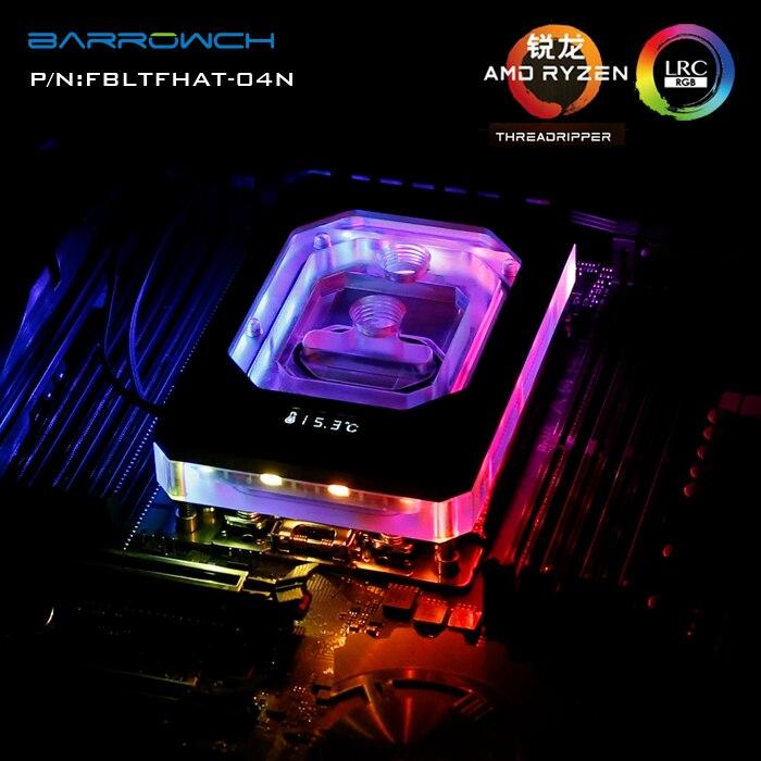 Barrowch FBLTFHAT-04NCPU waterblock for AMD RYZEN X399 RGB Digital display microcutting micro waterway