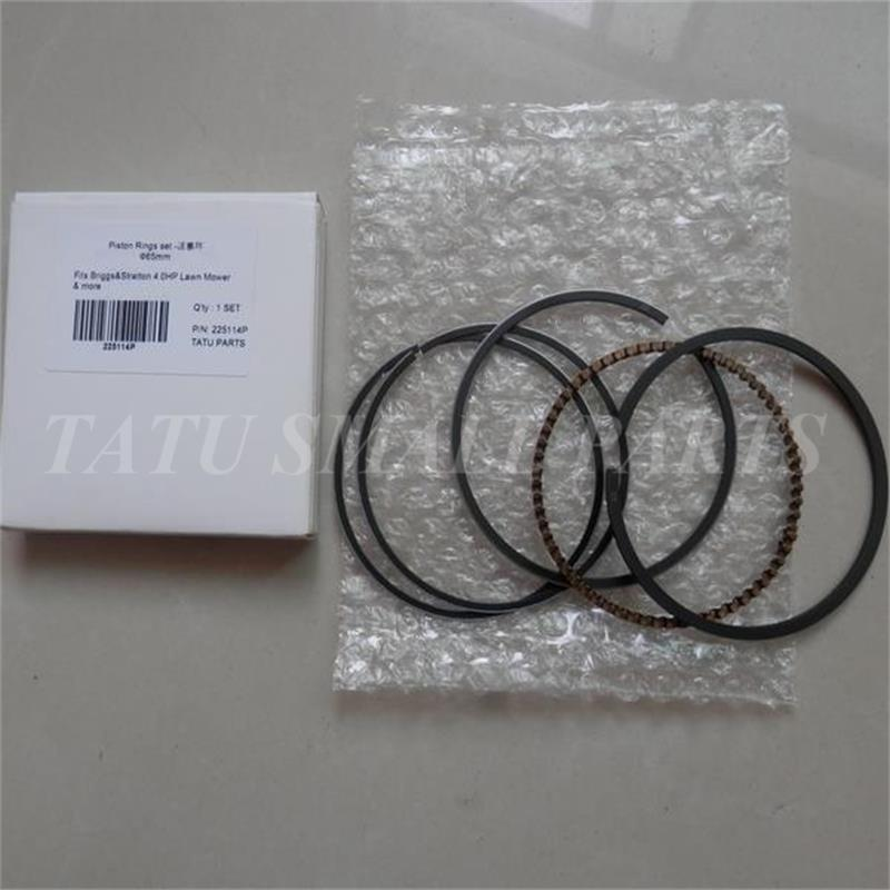 65mm PISTON RINGS SET FOR BRIGGS & STRATTON 3.5HP 3.75HP 4.0 HP 4.5HP 4 STROKE MOTOR CYLINDER COMPRSSION OIL RING PUMP MOWRES