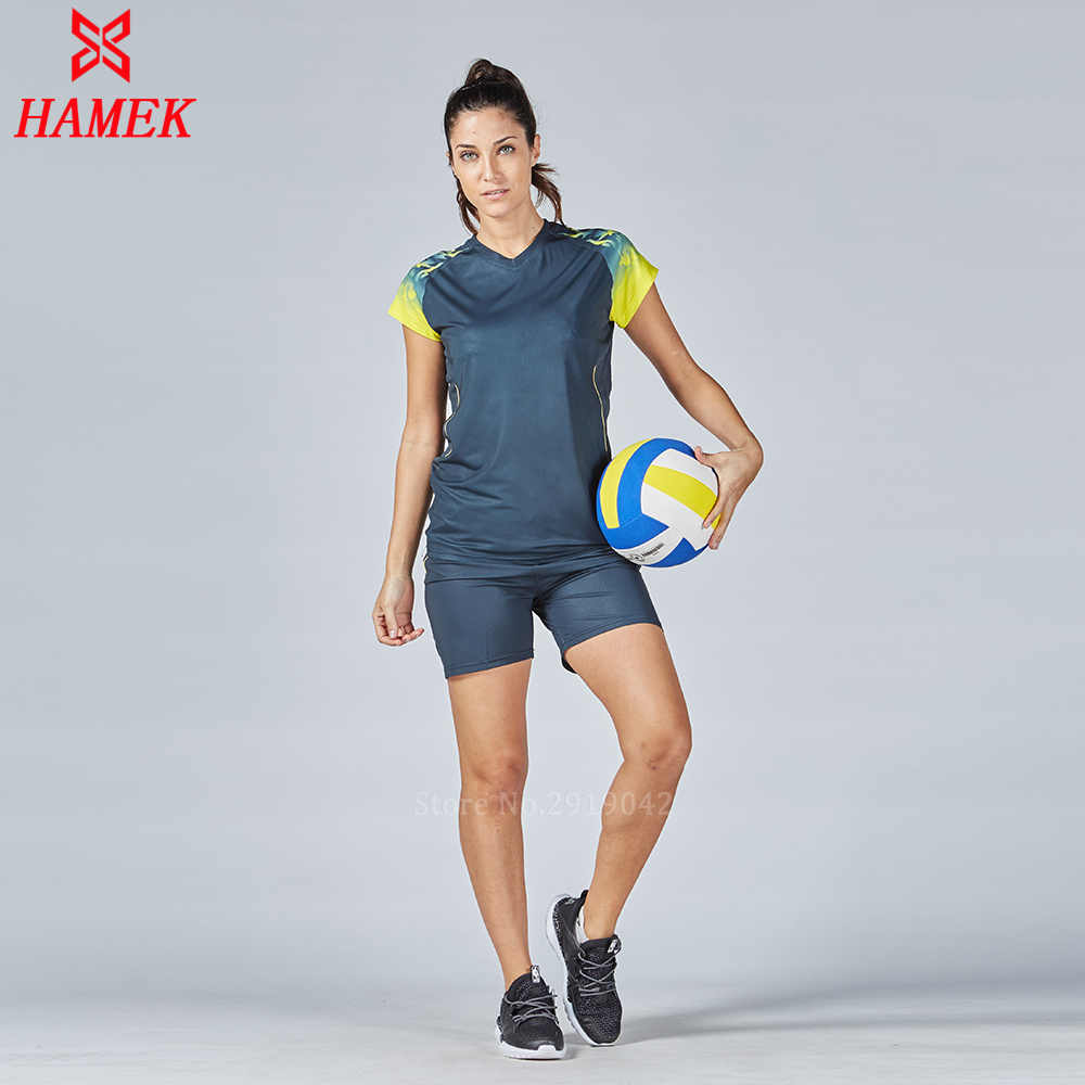 Detail Feedback Questions about Professional Volleyball Jerseys Women  Sports Suit sports Jogging uniforms 2017 Quick Dry Volleyball Training Set  T Shirt ... 3e14691a4cbd6