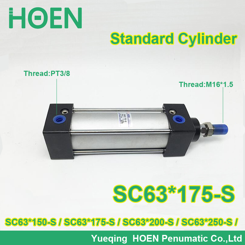 SC63x175-S 63mm bore stroke SC63x200-s standard single rod double action pneumatic cylinder SC SU series SC63X150-S SC63X250-S sc250 175 s 250mm bore 175mm stroke sc250x175 s sc series single rod standard pneumatic air cylinder sc250 175 s