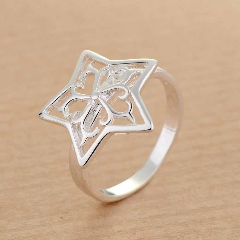 Звезда Мода оптом 925 ювелирные изделия посеребренное кольцо, модное Ювелирное кольцо для женщин,/SKNYHYBW RXCMWVGC