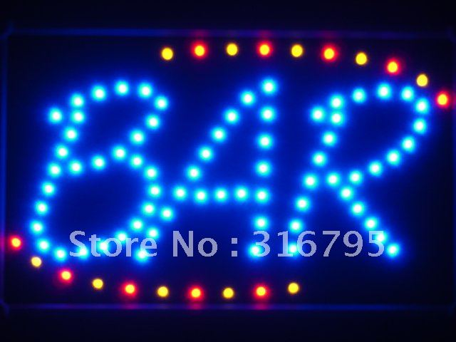 led030-b BAR Beer LED Neon Light Sign with Whiteboard