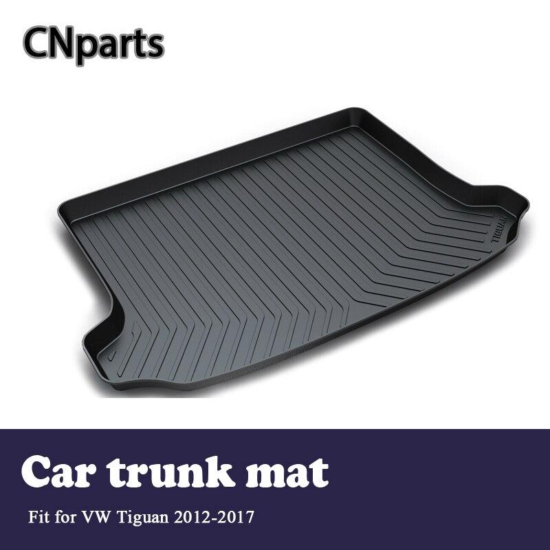 CNparts revestimiento de maletero de coche esterilla trasera del maletero para VW Tiguan 2012 2013 2014 2015 2016 2017 accesorios estera antideslizante impermeable
