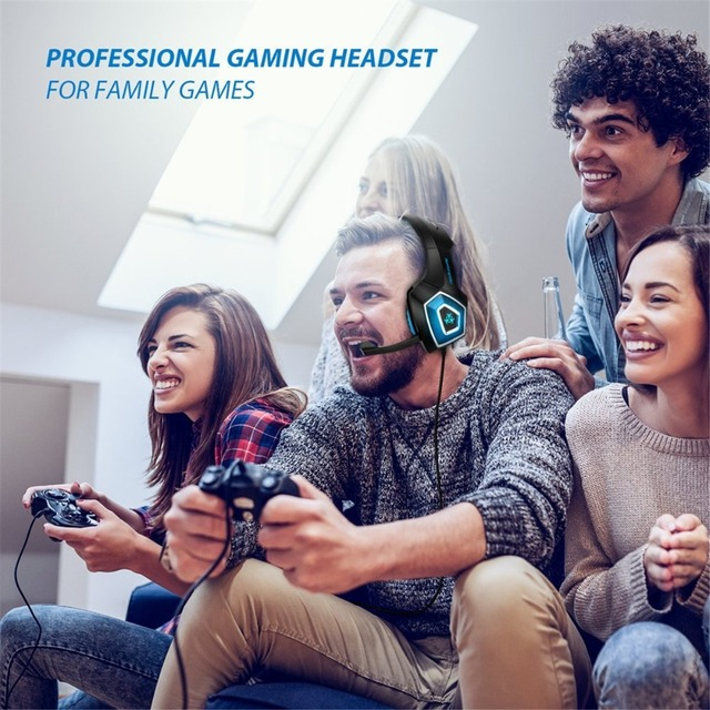 Gaming Headset with LED Lights