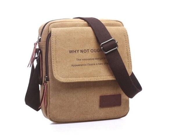 2017 Novos homens de lona saco do mensageiro saco de marca bolsa de ombro designer de Moda dos homens do vintage Marrom Preto saco crossbody bolsa